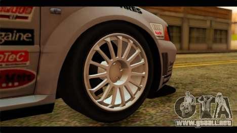 Audi S4 B5 2002 Champion Racing para GTA San Andreas vista posterior izquierda