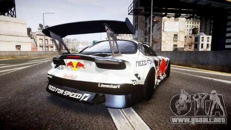 Mazda RX-7 Mad Mike Final Update one PJ para GTA 4 Vista posterior izquierda