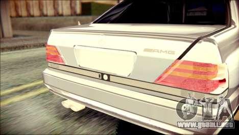 Mercedes-Benz W140 para GTA San Andreas vista hacia atrás