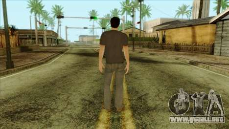 Young Alex Shepherd Skin without Flashlight para GTA San Andreas segunda pantalla
