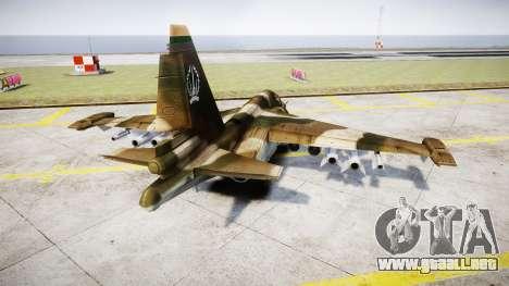 El su-39 para GTA 4 Vista posterior izquierda