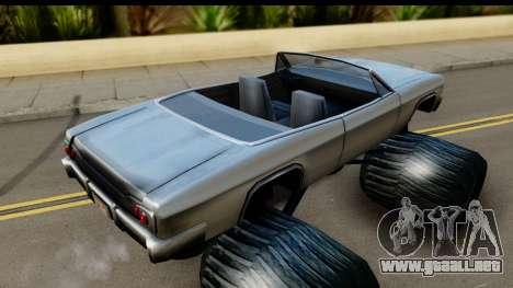 Monster Blade para GTA San Andreas vista posterior izquierda
