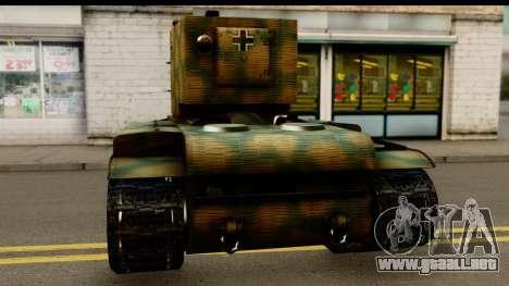 KV-2 German Captured para GTA San Andreas vista posterior izquierda