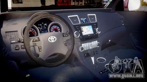 Toyota Hilux SW4 2015 para GTA 4 vista hacia atrás