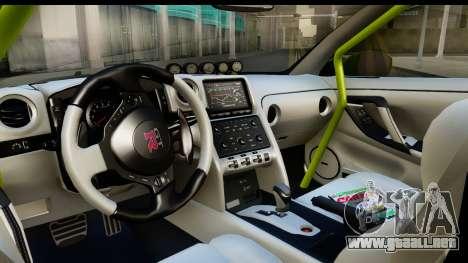 Nissan GT-R Dragster para visión interna GTA San Andreas