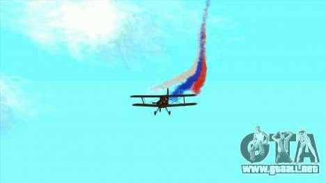La bandera de Rusia para los aviones para GTA San Andreas quinta pantalla