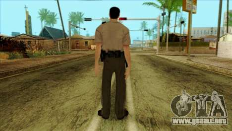 Depurty Alex Shepherd Skin without Flashlight para GTA San Andreas segunda pantalla