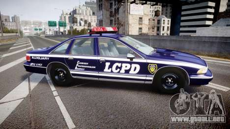 Chevrolet Caprice 1993 LCPD WoH Auxiliary [ELS] para GTA 4 left