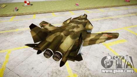 Su-47 Berkut bosque para GTA 4 Vista posterior izquierda