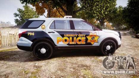 Ford Explorer Police Interceptor [ELS] marked para GTA 4 left