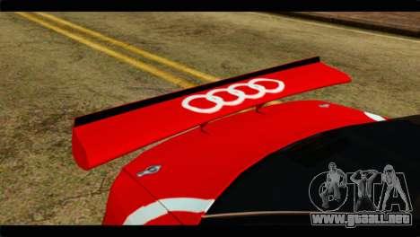 Audi S4 B5 2002 Champion Racing para GTA San Andreas vista hacia atrás