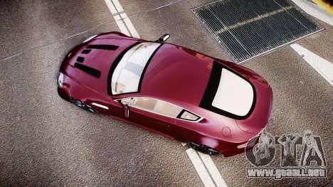 Aston Martin V12 Vantage 2010 para GTA 4 visión correcta