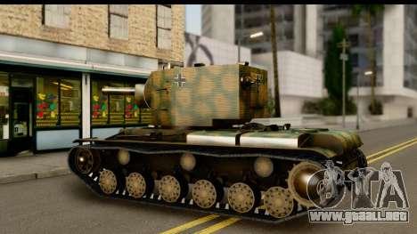 KV-2 German Captured para la visión correcta GTA San Andreas