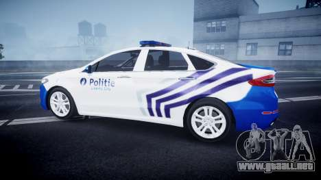 Ford Fusion 2014 Belgian Police [ELS] para GTA 4 left