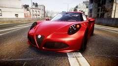 Alfa Romeo 4C 2014 para GTA 4