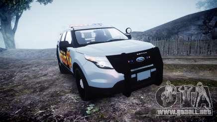 Ford Explorer Police Interceptor [ELS] marked para GTA 4