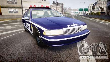 Chevrolet Caprice 1993 LCPD WoH Auxiliary [ELS] para GTA 4