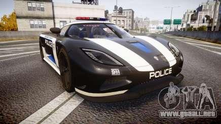 Koenigsegg Agera 2013 Police [EPM] v1.1 PJ3 para GTA 4