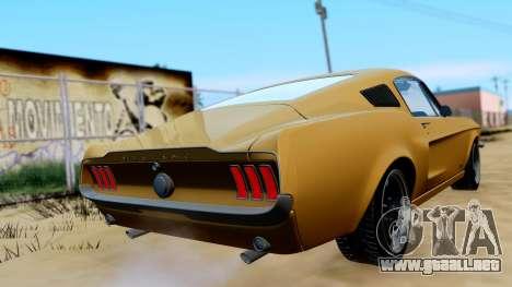 Shelby Mustang GT 1967 para GTA San Andreas left