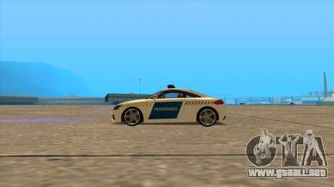 Audi TT RS de 2011 de la Policía húngara para GTA San Andreas left
