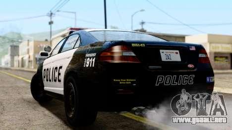 GTA 5 Vapid Police Interceptor v2 IVF para GTA San Andreas left