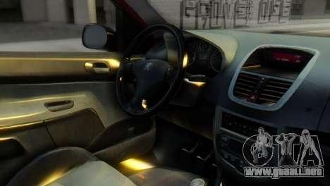 Peugeot 206 TowTruck para la visión correcta GTA San Andreas