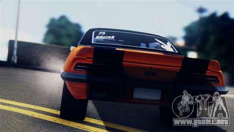 Chevrolet Camaro SS Dragster para GTA San Andreas vista hacia atrás