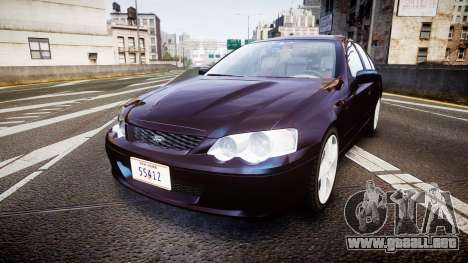 Ford Falcon XR8 2004 Unmarked Police [ELS] para GTA 4