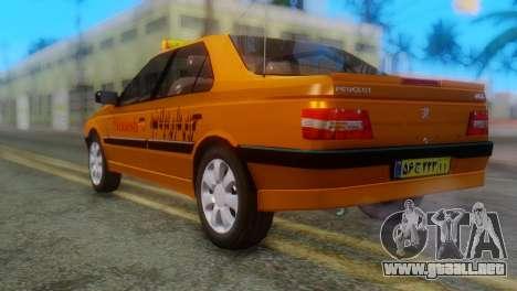 Peugeot 405 Slx Taxi para GTA San Andreas left