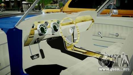 Ford Mustang 1967 para GTA 4 vista hacia atrás