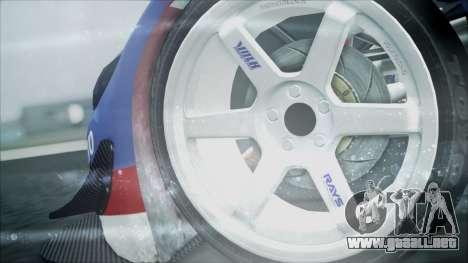 Volvo S60 Racing para GTA San Andreas vista posterior izquierda