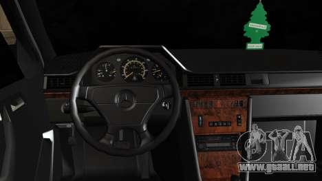 Mercedes-Benz W124 E500 para la visión correcta GTA San Andreas