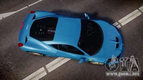 Ferrari 458 Speciale 2014 para GTA 4 visión correcta