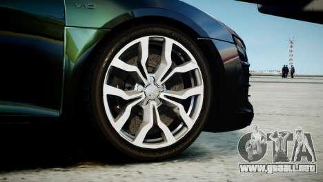 Audi R8 Spyder 2014 [EPM] para GTA 4 Vista posterior izquierda