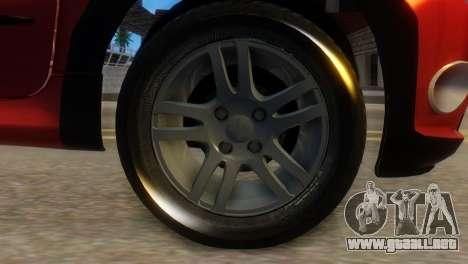 Peugeot 206 TowTruck para GTA San Andreas vista posterior izquierda