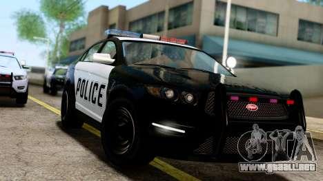 GTA 5 Vapid Police Interceptor v2 IVF para GTA San Andreas vista posterior izquierda