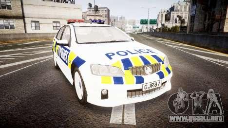 Holden VE Commodore SS Police HWP [ELS] para GTA 4