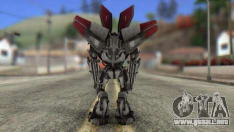 Air Raide Skin from Transformers para GTA San Andreas segunda pantalla