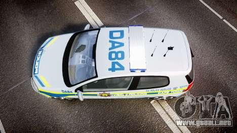 Volkswagen Golf South African Police [ELS] para GTA 4 visión correcta