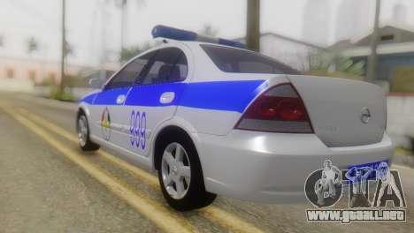 Nissan Almera Iraqi Police para GTA San Andreas left