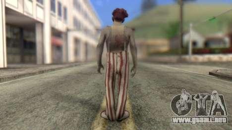 Zombie Clown from Left 4 Dead 2 para GTA San Andreas segunda pantalla