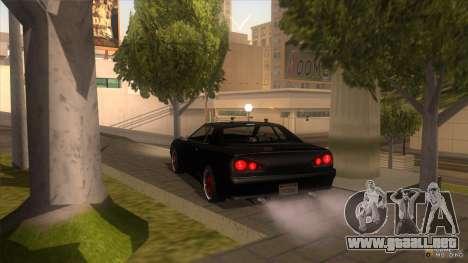 Super Elegy para GTA San Andreas vista posterior izquierda