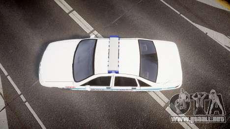 Chevrolet Caprice Liberty Police v2 [ELS] para GTA 4 visión correcta