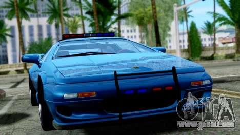 Lotus Esprit S4 V8 1998 Police Edition para la visión correcta GTA San Andreas