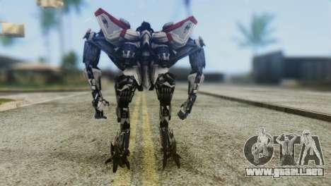 Starscream Skin from Transformers v1 para GTA San Andreas tercera pantalla