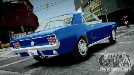 Ford Mustang 1967 para GTA 4 left