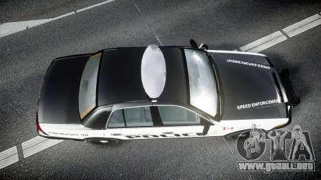 Ford Crown Victoria Alderney Police para GTA 4 visión correcta