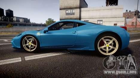 Ferrari 458 Speciale 2014 para GTA 4 left