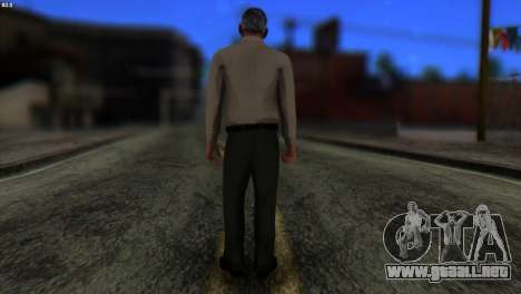 GTA 5 Skin 6 para GTA San Andreas segunda pantalla
