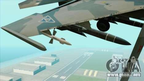 Sukhoi SU-35BM Mobius Squadron para la visión correcta GTA San Andreas